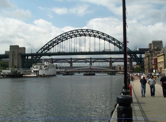 The quayside at Newcastle, the photographer's birth place!