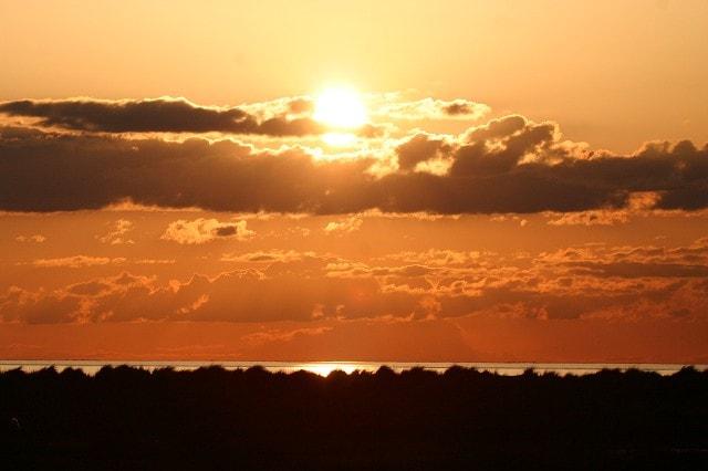 Taken from coastal path at sunset.