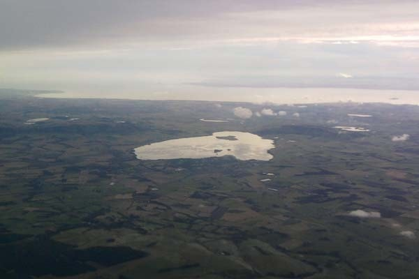 Loch Leven from the air.