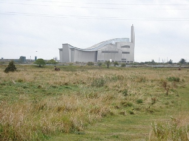 Crossness LNR and incinerator building