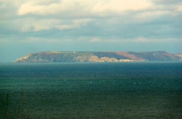 Lundy viewed from Hartland Point.