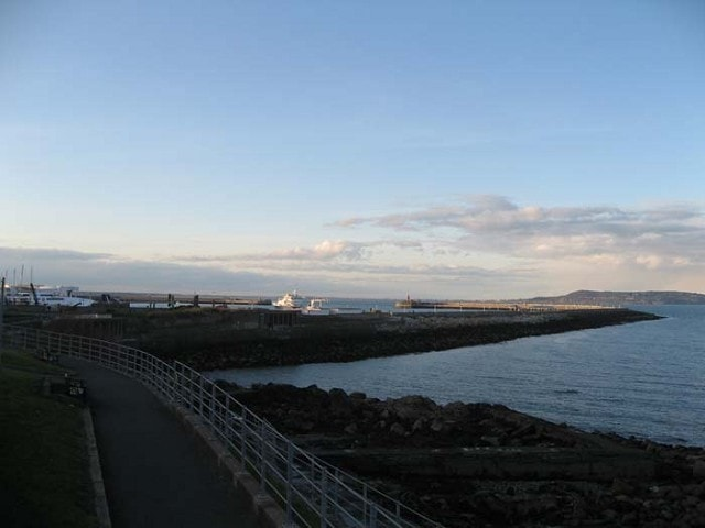 Looking north towards the harbour.