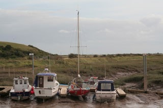 Waiting for the tide at Uphill nature reserve