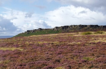 The southern end of Stanage Edge