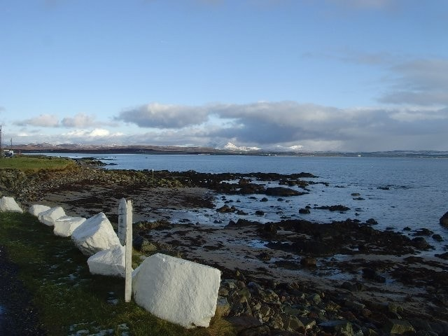Looking southeast from Bruichladdich across Loch Indaal.