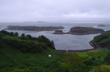 Southwest of Kylescu at Drumbeg viewpoint looking north.