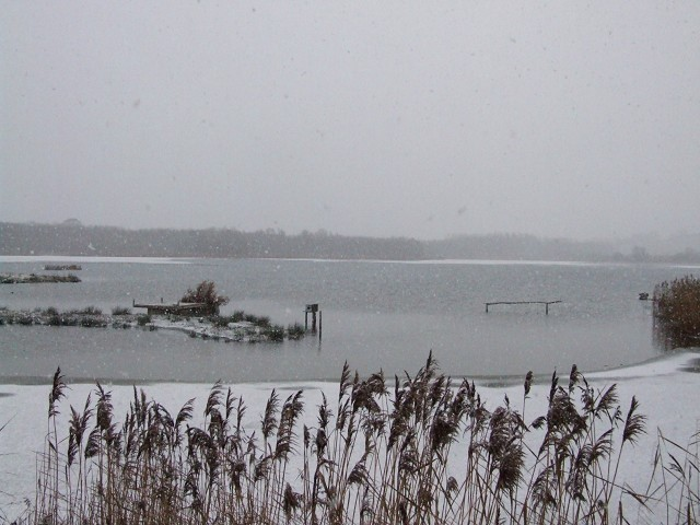 Lagoon III on a freezing and snowy January day.