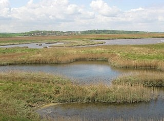 Cley Marshes and village