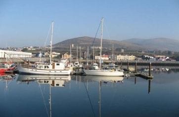 Dingle Harbour on a sunny day.