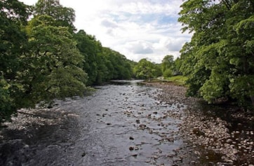 The Rive Wharfe at Bolton Abbey.