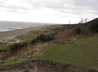 Looking southeast over Gunton Warren/Heath