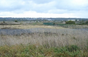 Looking south towards the sewage works