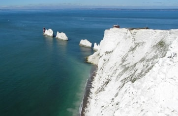 The Needles viewed from western tip of West High Down.