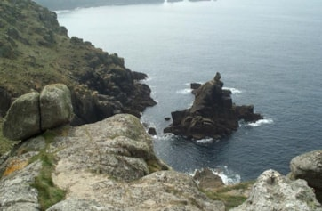 A view along the cliffs from Sennen to Land's End.