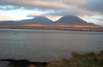 The Paps of Jura viewed from Islay.