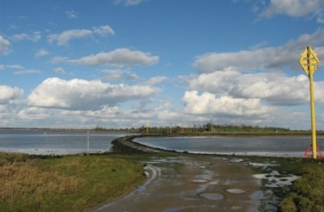 The causeway across to Northey Island. (The island is owned by the National Trust - phone if access required.)