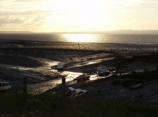 Clevedon Harbour at low-tide