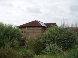 The hide at Greylake RSPB reserve