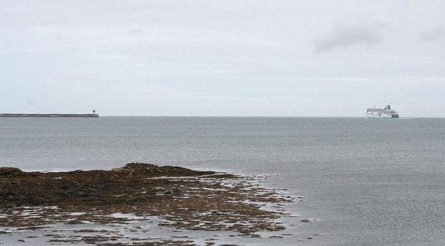 In Holyhead Bay.