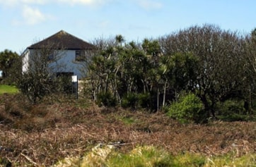 The house and garden on Great Saltee Island.
