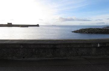 Saltcoats harbour entrance.