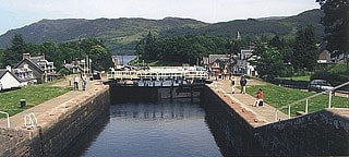 The canal locks at Fort Augustus