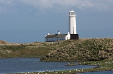 This photo was taken over one of a number of gravel pools towards the Bay Hide and the lighthouse.