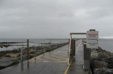 Mutton Island Causeway.