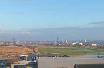 View over Swanscombe Marshes looking north from main road with Botany Marsh on right.