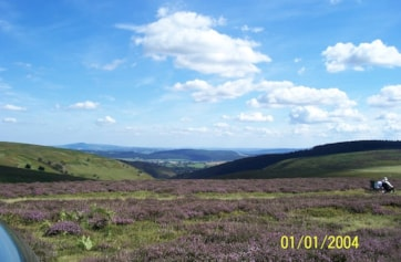 Looking southeast towards Brown Clee Hill