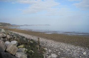 Llanddulas seafront.