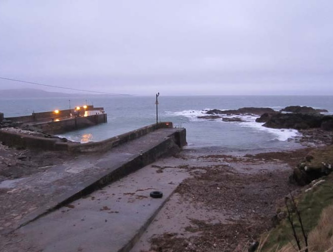 Roonah Quay at dawn - boats to Clare Island run from here.