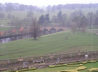 River Derwent from Chatsworth House.