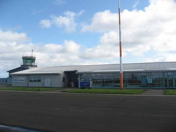 The terminal at Wick Airport.