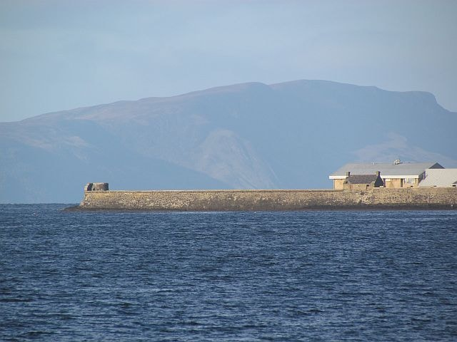 The tower at Saltcoats Harbour used for seawatching.