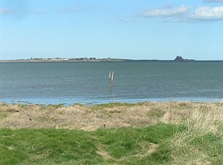 From Fenham-le-Moor looking across to Lindisfarne at high tide.