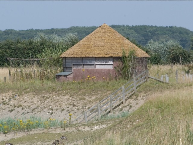 View of the unusual design of hide at Fiskerton. Nikon D80 with Sigma 170-500.