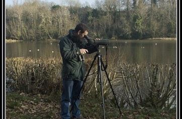 Irish Wetlands Bird Survey work at Marlfield Lake, Clonmel.