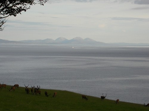 View of Jura from Carsaig, Mull.