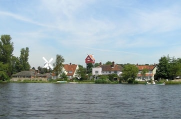 Thorpeness viewed from the Meare.