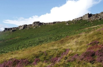 Near the southern end of Stanage Edge