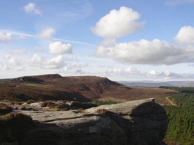 Simonside Hills in autumn.