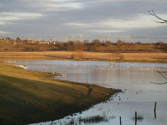 The 'Salt Pan', one of several lakes (flashes) that have formed due to subsidence caused by salt mining. Despite being inland the water is brackish and the vegetation salt tolerant in places. Excellent for waders.