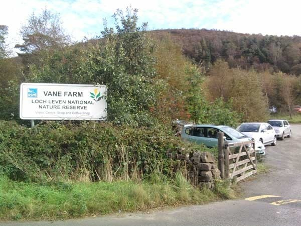 The entrance to the RSPB reserve.
