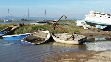 High tide near Sheldrakes restaurant.