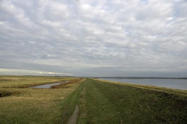 Sea wall.