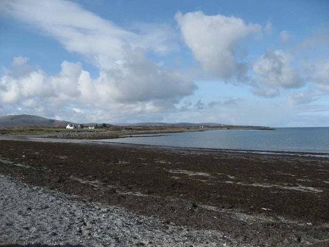 Looking west towards Doorus Pier from the beach car park.