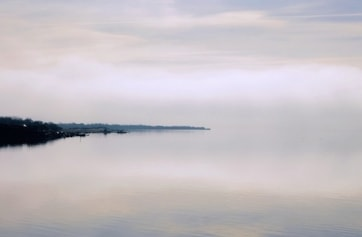 A view from the layby on the A75 looking at the Cree, in the mist.