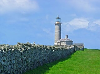 The Old Light, Lundy. This light was abandoned long ago because it was frequently shrouded in fog. New lights were built at the north and south ends of the island, at lower levels.